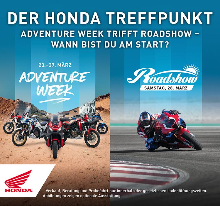 Honda Roadshow am 28. März!
