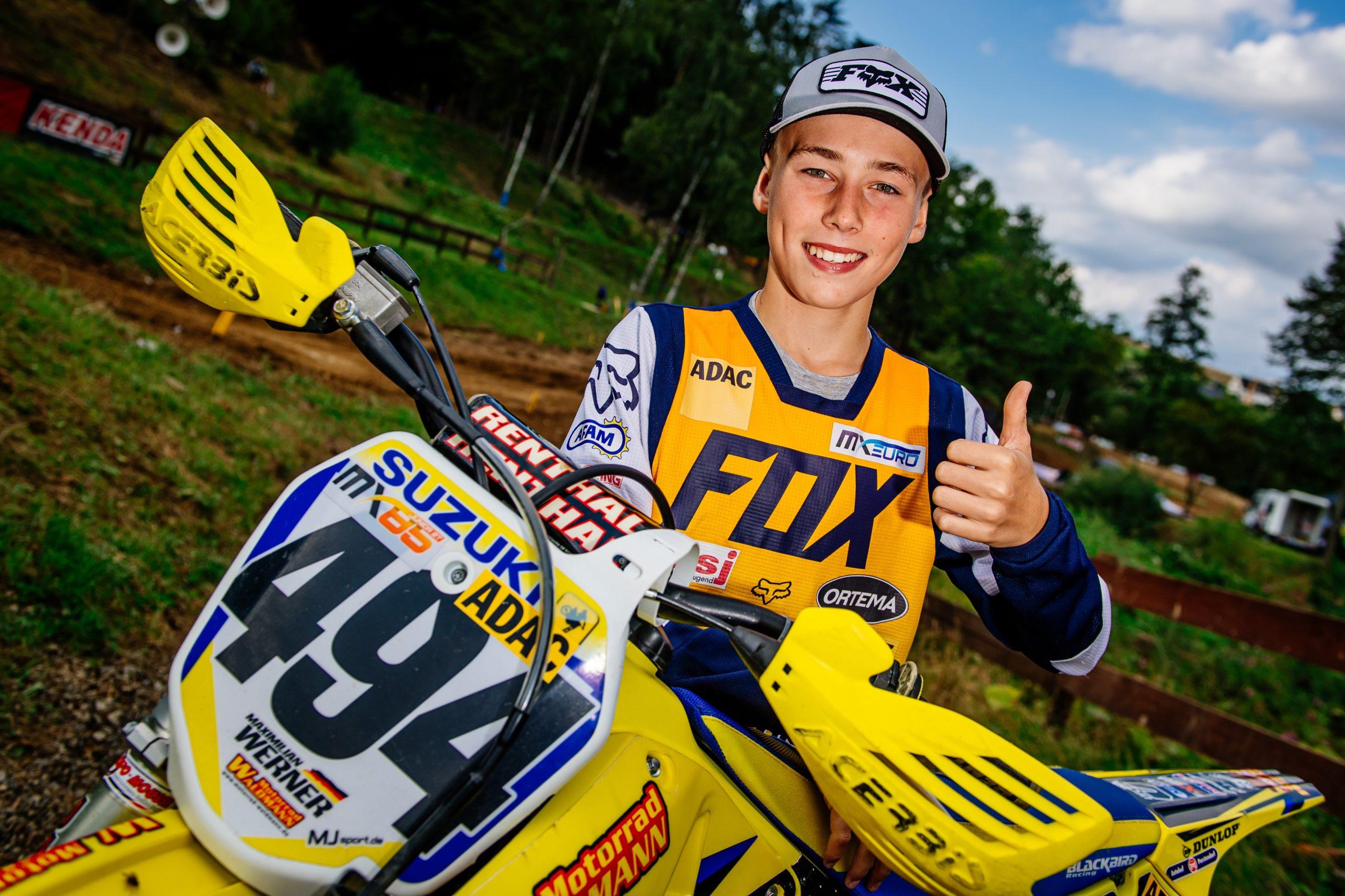 Erster Sieg für Maximilian Werner im ADAC MX Junior Cup 85